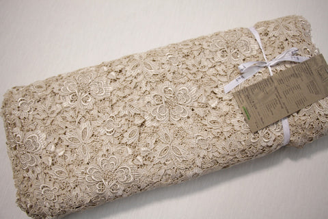 Champagne Giselle Guipure Lace