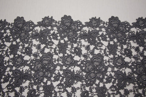 Charcoal Giselle Guipure Lace
