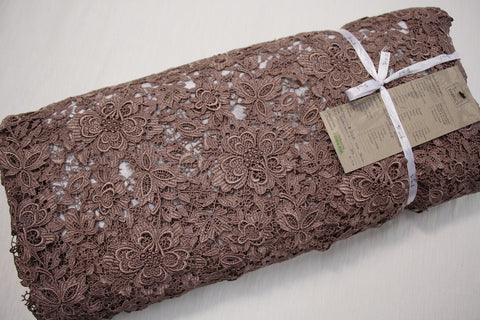 Coffee Giselle Guipure Lace