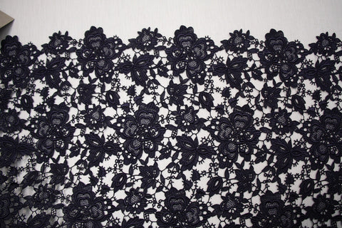 Navy Giselle Guipure Lace