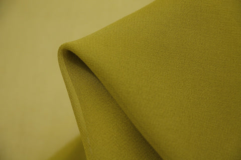 Warm Olive Silk Georgette