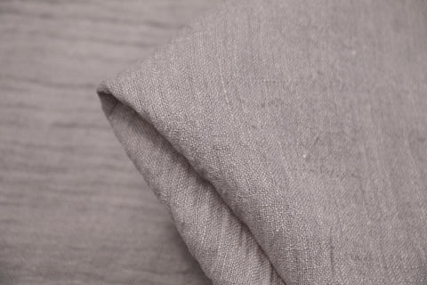 Soft Grey Crinkle Linen