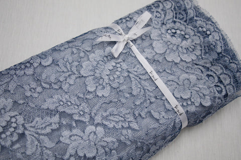 Manuela Blue Metallic Lace