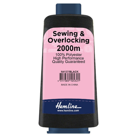 Hemline - Overlocking Thread - Black