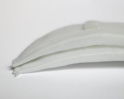 White Covered Shoulder Pads with Velcro - 7mm