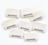 "Sewing Labels: ""BESPOKE"" - woven sewing labels 8 Pack"