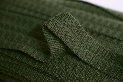 22mm Wool Binding - Dark Green