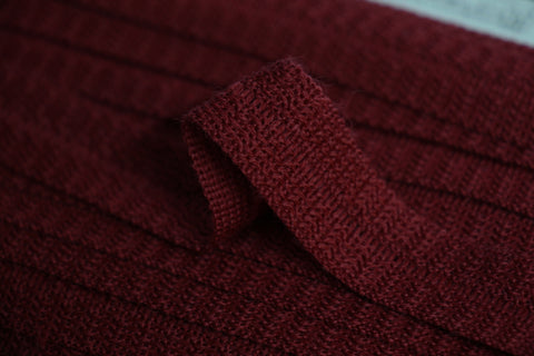 22mm Wool Binding - Wine Red