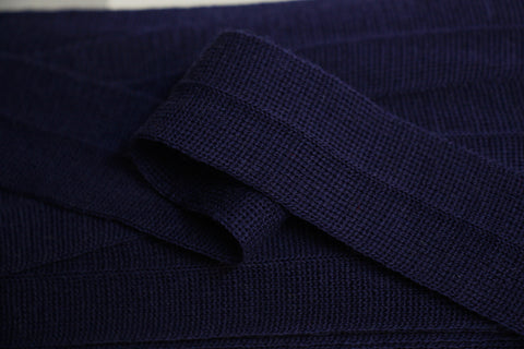 30mm Wool Binding - Navy