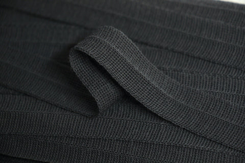 20mm Wool Binding - Dark Grey