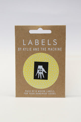 """MADE"" - woven sewing labels 8 Pack"