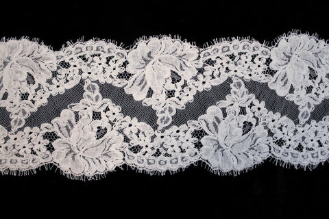 Corded Lace Trim White