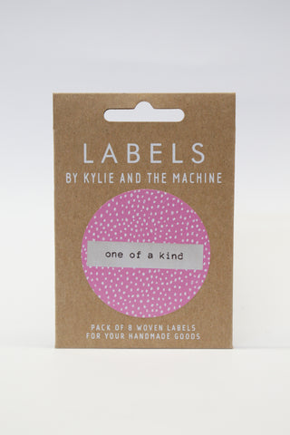 """ONE OF A KIND"" - woven sewing labels 8 Pack"