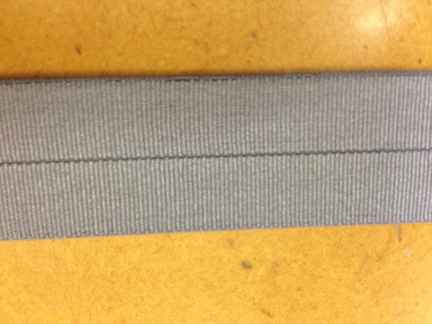 18mm Stretch Fold-Over Binding - Silver Grey