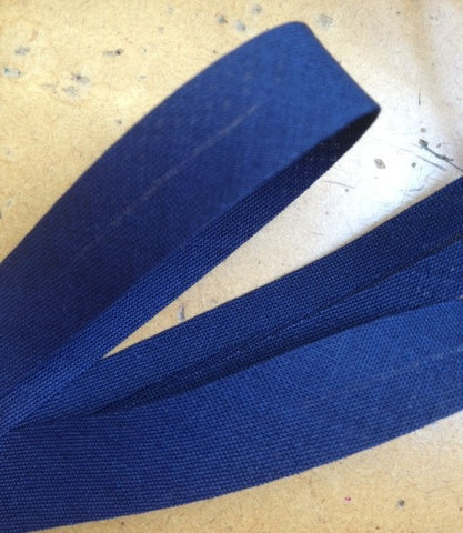 Junior Navy Poly/Cotton 15mm Bias Binding
