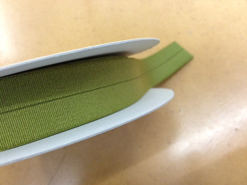 18mm Stretch Fold-Over Binding - Chartreuse