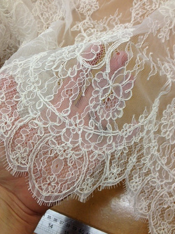 Johanna Ivory Corded Tulle Lace
