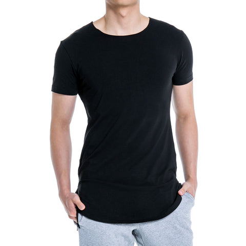 ALT. Tall Slim Tee SS - Carbon Black