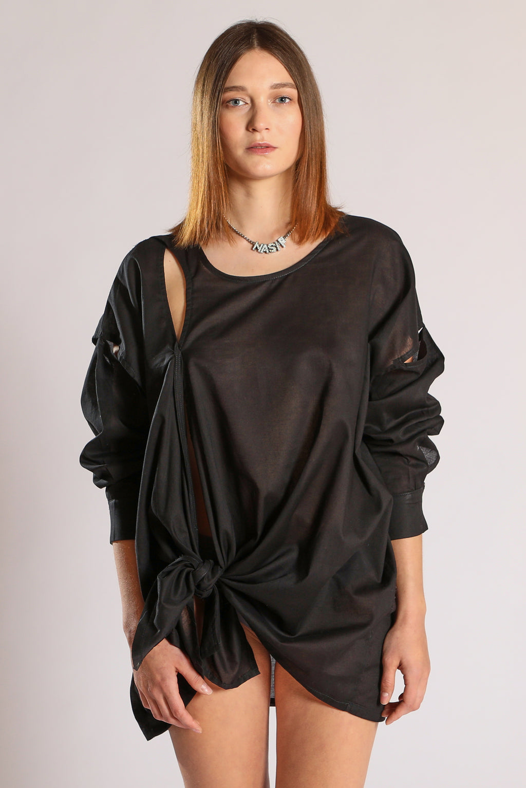 Knot blouse - Black
