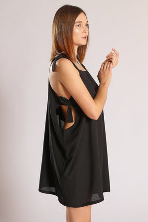 Circle dress short - Black