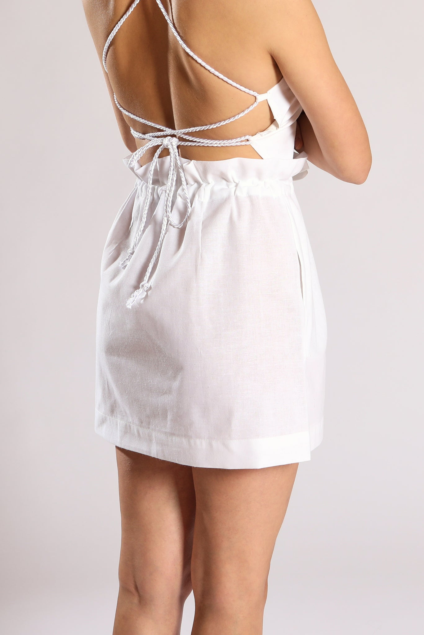 Scrunchy skirt - White