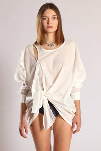 Knot blouse - White