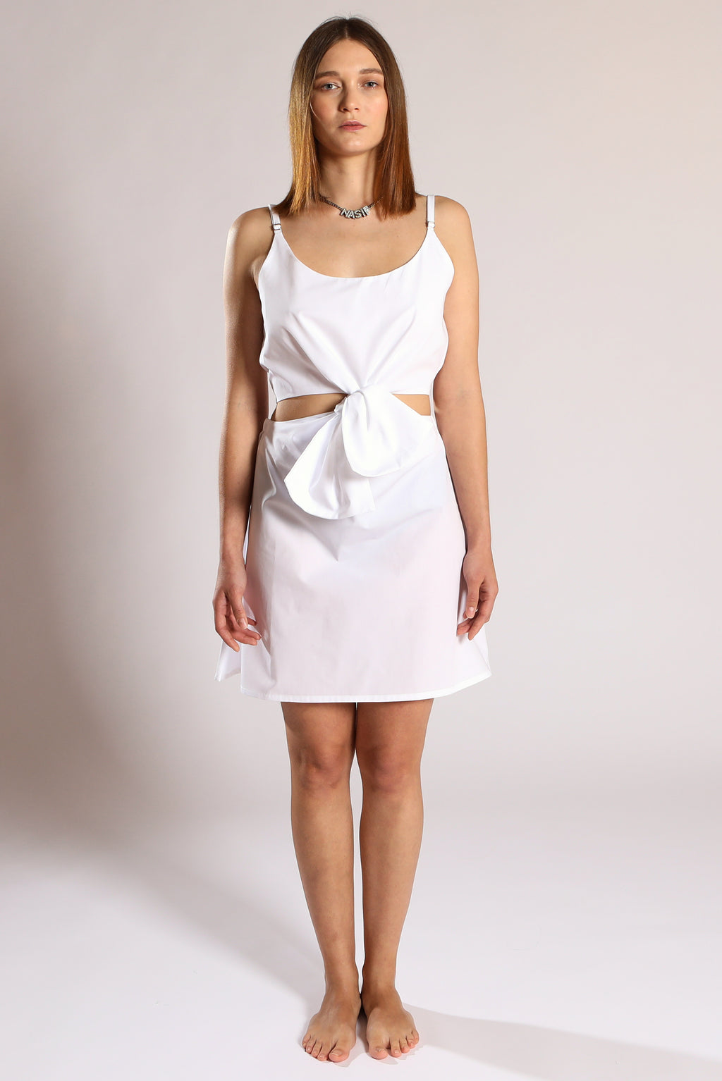 Knot dress - White