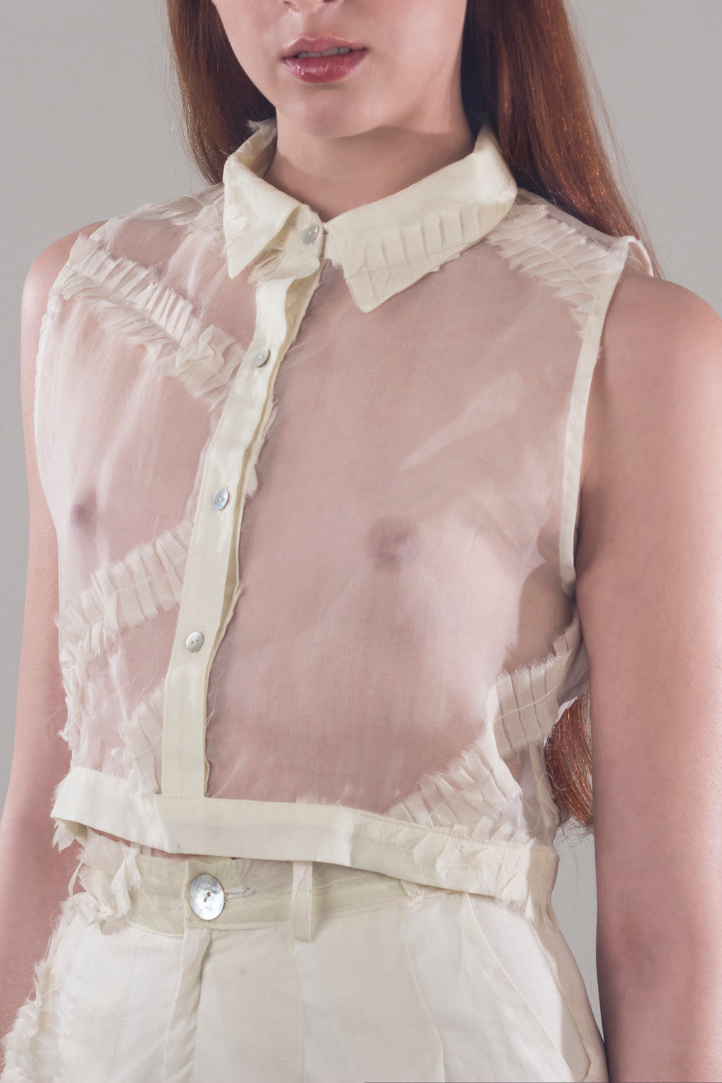 Cross shirt - Beige