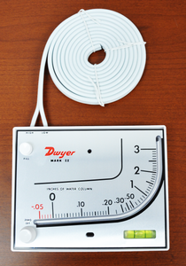 Molded Plastic Manometer, Inclined-Vertical Scale