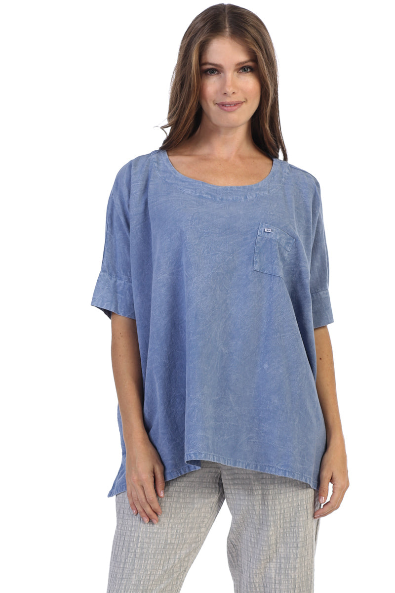 Basic Core Short Sleeve Boxy Tunic Top - Rose + Canvas®