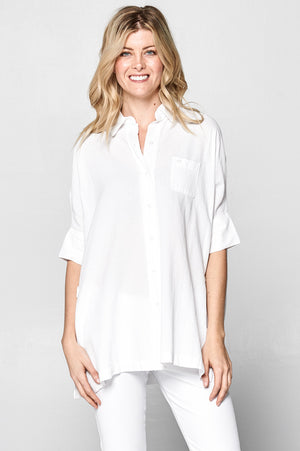 Classic Oversized Oxford Tunic Fit Shirt