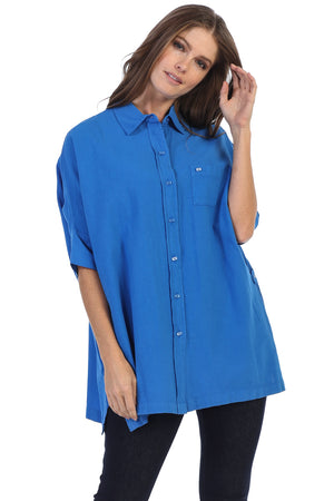 Classic Oversized Oxford Tunic Fit Shirt - Rose + Canvas®