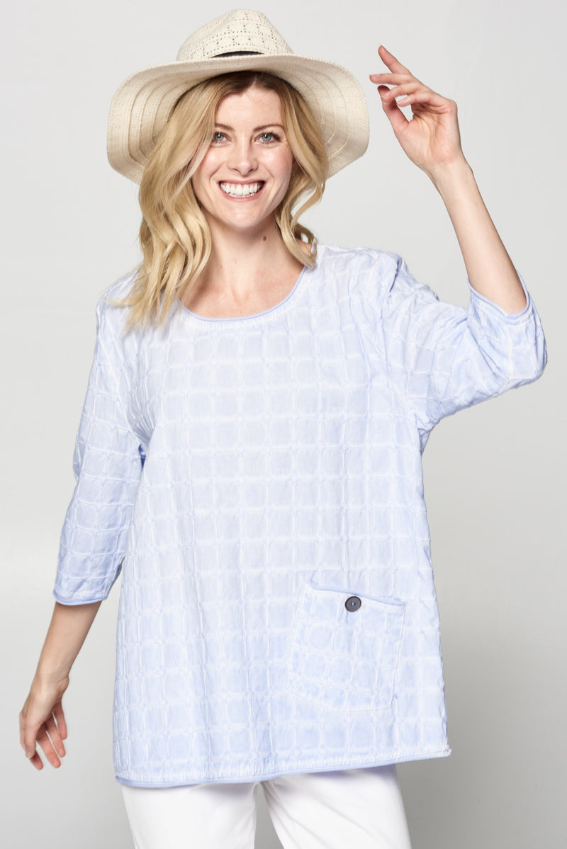 Cotton Basket Woven Mineral Wash Tunic Top - Rose + Canvas®