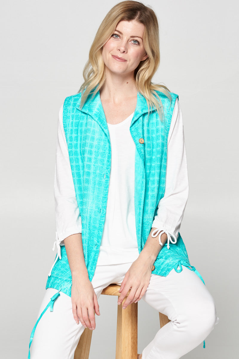 Cotton Basket Woven Jacquard Vest - Rose + Canvas®