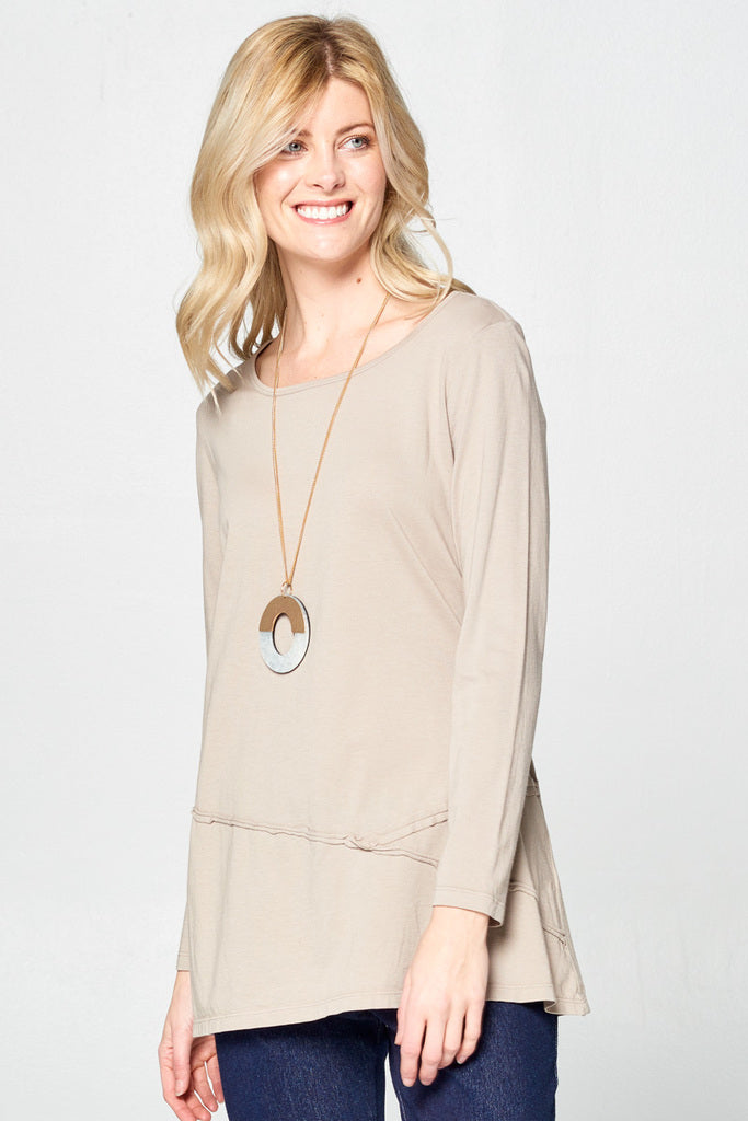 Supima Cotton Garment Dyed Tunic Top - Rose + Canvas®