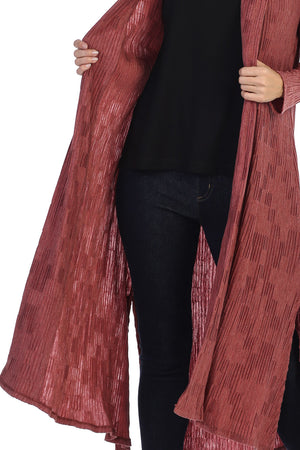 Criss Crimped Duster Cardigan - Rose + Canvas®