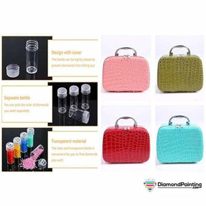 22 Bottle Diamond Painting Storage Case Fancy Handbag