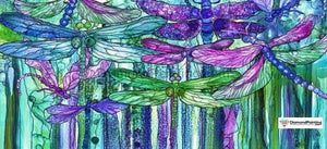 Abstract Dragonfly 5D Diamond Art Kit Free Diamond Painting 15x30cm