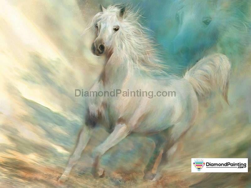 Amazing Horse Art DIY Diamond Painting Kit Free Diamond Painting 20x25cm