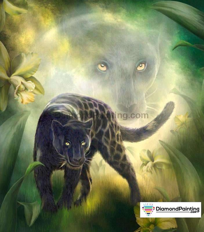 Black Panther DIY 5D Diamond Art Kit Free Diamond Painting 20x20cm