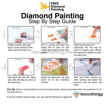 Blue Flower Diy Diamond Painting Kit