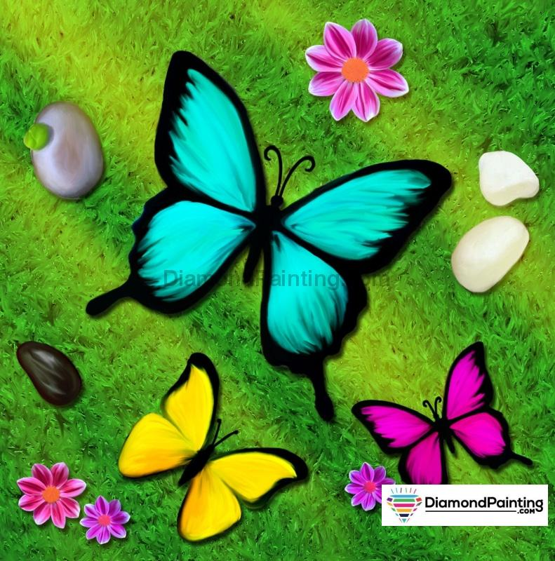 Butterfly Party Diamond Painting Kit Free Diamond Painting