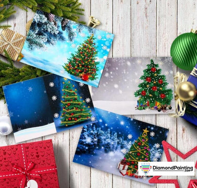Christmas Card Diamond Painting Kits