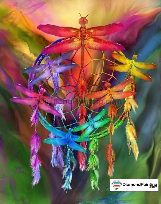 Colorful Dragonfly 5D Diy Diamond Painting Kit