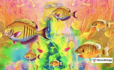 Colorful Fishes Diy Diamond Painting Kit 20X30Cm
