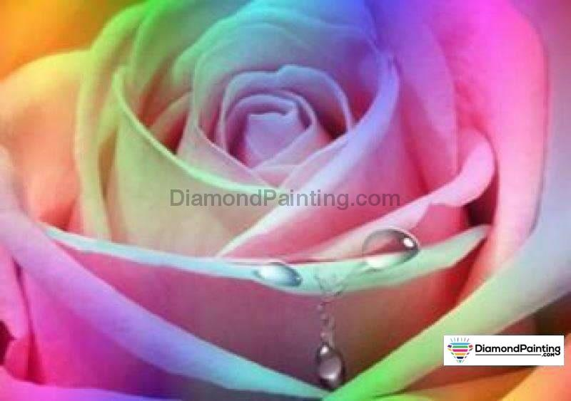 Colors of Fun Diamond Painting Lovers Kits for Adults Free Diamond Painting Colorful Flower 50x60cm