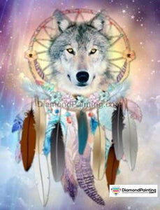 Colors of Fun Diamond Painting Lovers Kits for Adults Free Diamond Painting Rainbow Wolf 30x40cm