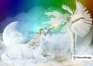Colors of Fun Diamond Painting Lovers Kits for Adults Free Diamond Painting Unicorn and Fairy 20x25cm