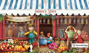 Country Store Halloween Diamond Painting Kit Free Diamond Painting