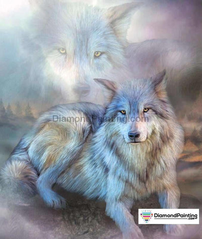 Cunning Wolf 5D Diamond Art Kit 20X25Cm